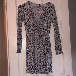 H&M long sleeved wrap dress